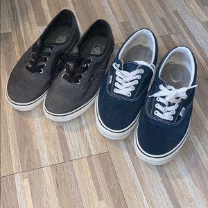Vans skate shoes men's shoe bundle 2 pairs $30